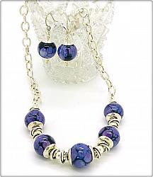 Purple Black Lampwork Set