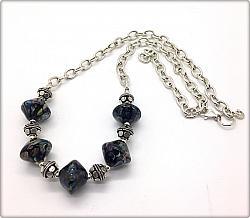 Jellyfish Lampwork Necklace
